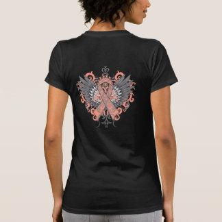 Alas frescas del cáncer endometrial camiseta