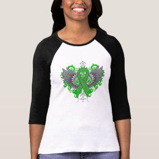Alas frescas del cáncer suprarrenal camisetas