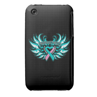 Alas hereditarias del corazón de la conciencia del iPhone 3 Case-Mate cárcasa