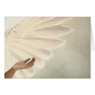 Alas hermosas del ángel - el cuidar y calma tarjeta de felicitación