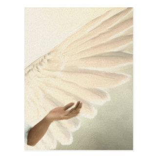 Alas hermosas del ángel - el cuidar y calma tarjeta postal