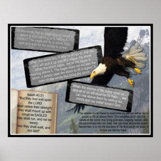 ALAS INSPIRADAS DE EAGLE DEL POSTER DEL 40:31 DE I