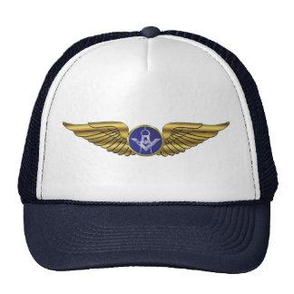 Alas masónicas de los pilotos gorras de camionero