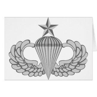 Alas mayores del salto del ejército tarjeta de felicitación