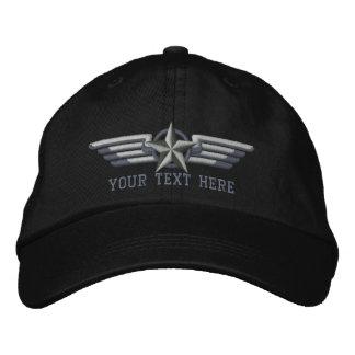Alas personalizadas del piloto de la insignia de gorra de béisbol bordada