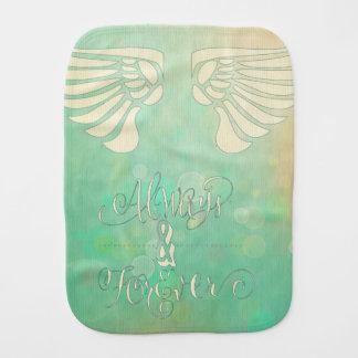 Alas, pintura digital del extracto, goma verde paños para bebé