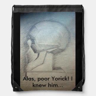 Alas, poor Yorick! I knew him Drawstring Backpack
