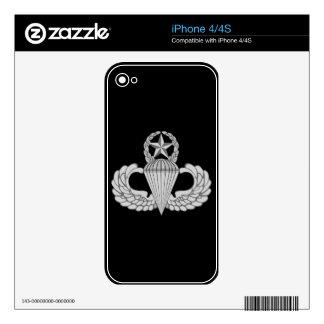 Alas principales del salto/del paracaidista skin para el iPhone 4S