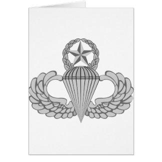 Alas principales del salto/del paracaidista tarjeta de felicitación