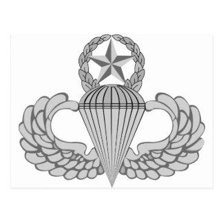 Alas principales del salto/del paracaidista tarjetas postales