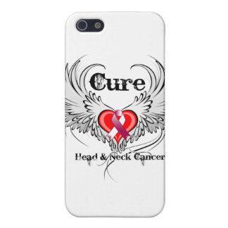 Alas principales del tatuaje del corazón del cánce iPhone 5 carcasa