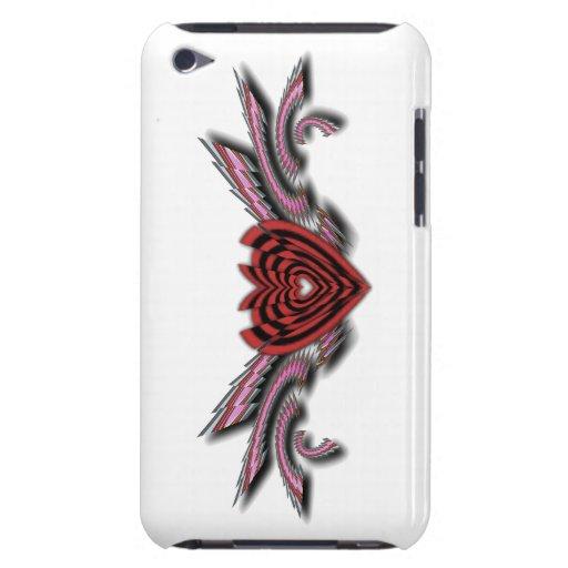 Alas rotas de los corazones quebrados transparente iPod touch carcasas