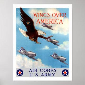 Alas sobre América -- Cuerpo de aire WW2 Póster