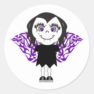 Alas tribales del chica del ángel del vampiro etiquetas