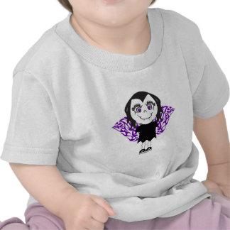 Alas tribales del chica del ángel del vampiro camisetas