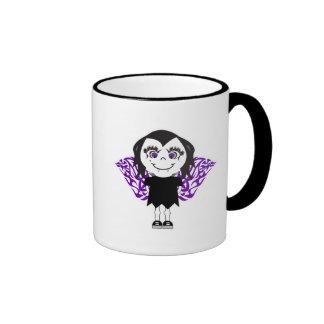 Alas tribales del chica del ángel del vampiro tazas de café