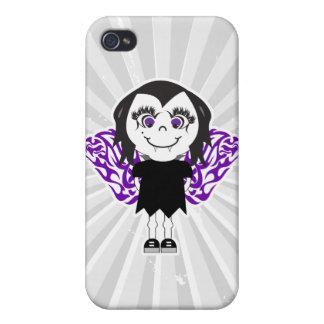 Alas tribales del chica del vampiro iPhone 4 protectores