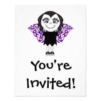 Alas tribales del chica del vampiro invitaciones personales