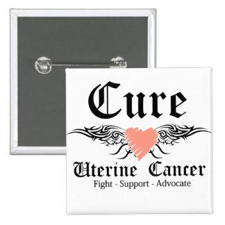 Alas uterinas del tatuaje del cáncer de la pin cuadrado