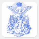 Alas y corona de la emperatriz pegatina cuadrada