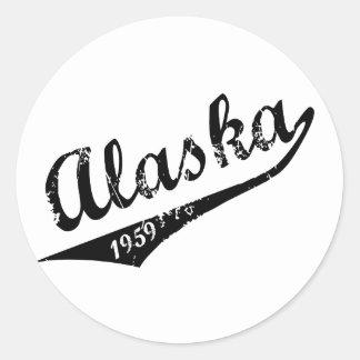 Alaska 1959 classic round sticker