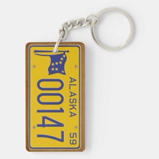 Alaska 1959 Vintage License Plate Keychain