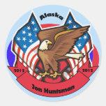 Alaska 2012 para el Huntsman de Jon Pegatinas Redondas