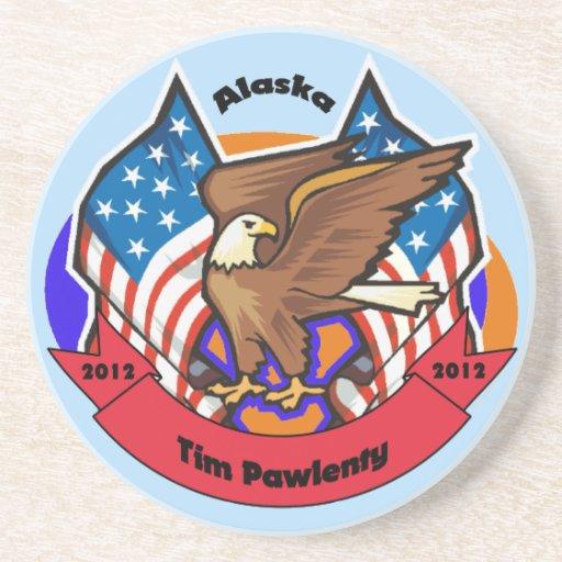 Alaska 2012 para Tim Pawlenty Posavasos Manualidades