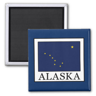 Alaska 2 Inch Square Magnet