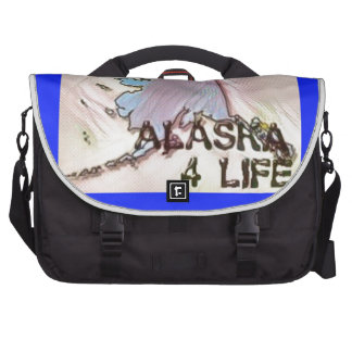 """""""Alaska 4 Life"""" State Map Pride Design Bag For Laptop"""