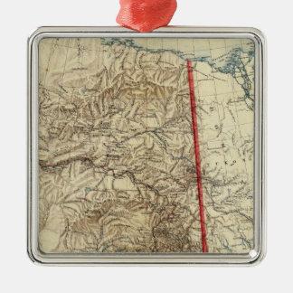 Alaska 5 metal ornament