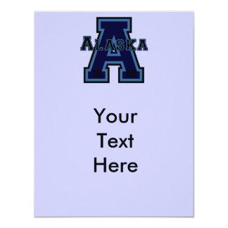 Alaska 'A' Blue 4.25x5.5 Paper Invitation Card