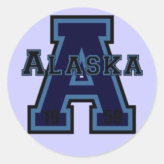 Alaska 'A' Blue Sticker