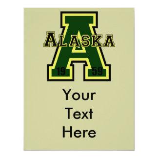 Alaska 'A' Green 4.25x5.5 Paper Invitation Card