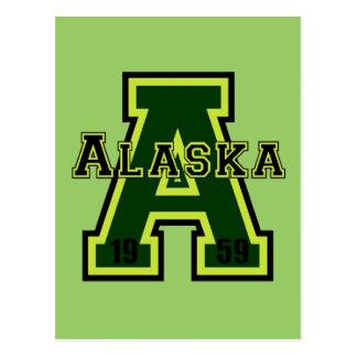 Alaska 'A' Green Postcard