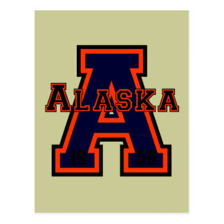 Alaska 'A' Orange Postcard