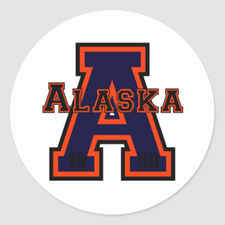 Alaska 'A' Orange Round Stickers