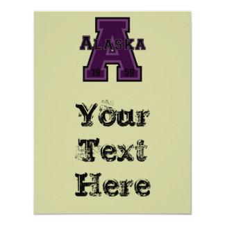 Alaska 'A' Purple 4.25x5.5 Paper Invitation Card