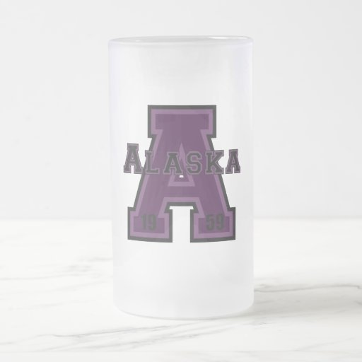 Alaska 'A' Purple Coffee Mug