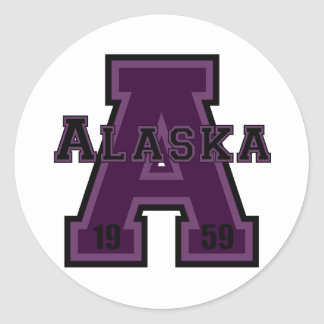 Alaska 'A' Purple Sticker
