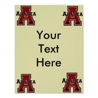 Alaska 'A' Red 4.25x5.5 Paper Invitation Card