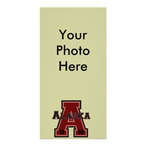 Alaska 'A' Red Photo Greeting Card