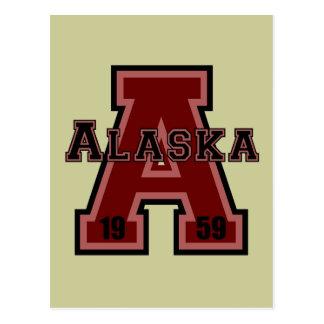 Alaska 'A' Red Postcard