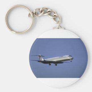 Alaska Airlines MD-80 Basic Round Button Keychain
