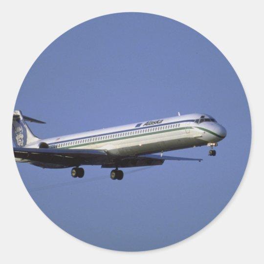 Alaska Airlines MD-80 Pegatina Redonda