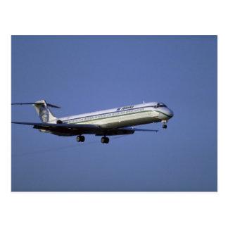 Alaska Airlines MD-80 Tarjeta Postal