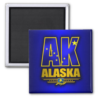 Alaska (AK) 2 Inch Square Magnet
