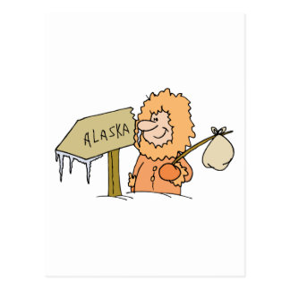 Alaska AK Alaskan Eskimo Vintage Travel Souvenir Postcard