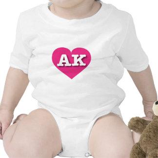 Alaska AK hot pink heart Bodysuits