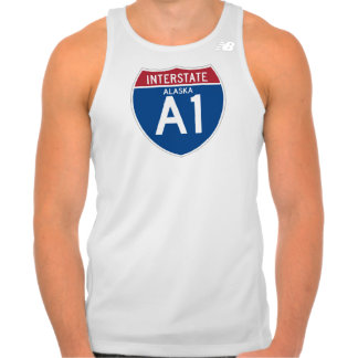 Alaska AK I-A1 Interstate Highway Shield - Tank Top